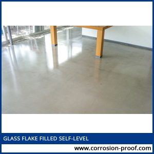 glass flake filled self level