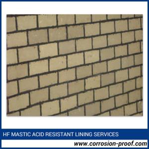 Hf Mastic Acid Resistant Bricks Lining