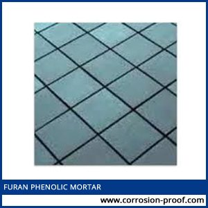 Furan phenolic mortar