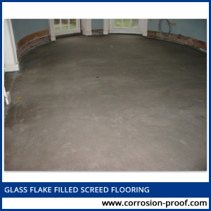 glass flake filled screed