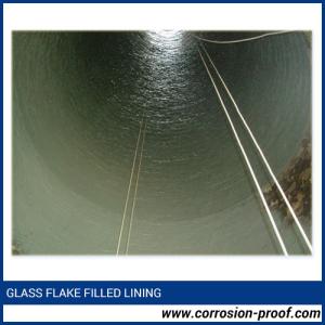 Glass flake vinyl ester