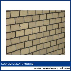 sodium silicate mortar
