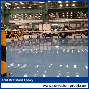 Acid Resistant Paint for Battery Room.